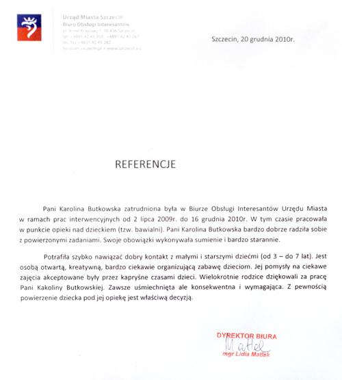 Referencje Urząd Miasta Szczecin